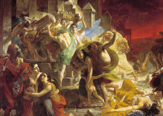 the continue time with pompeii